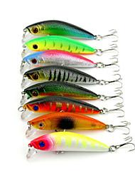 """5 pcs Fretin leurres de pêche Fretin Vert Orange Incarnadin Jaune Vert clair Argent Rouge g/Once,70mm mm/2-3/4"""" pouce,Plastique durPêche"""
