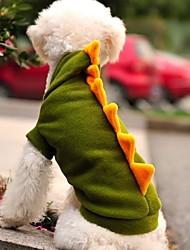 levne -Kočka Pes Kostýmy Úbory mikiny Oblečení pro psy Komiks Zvíře Zelená polar fleece Kostým Pro domácí mazlíčky cosplay Svatba Halloween