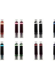 Недорогие -2шт набор перьевых ручек чернила картриджи заправки зеленый фиолетовый синий оранжевый