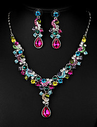 Multicolor Zircon Jewelry Set for Wedding Party