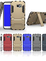 economico -SHI CHENG DA Custodia Per Samsung Galaxy Samsung Galaxy Custodia Resistente agli urti / Con supporto Per retro Armatura PC per S6 edge plus / S6 edge / S6