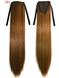 abordables -Corte Recto Sintético Pedazo de cabello La extensión del pelo 18 pulgadas # 18