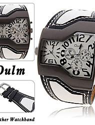 cheap -Men's Pocket Watch Sport Watch Leather Band Charm Black / White / Blue