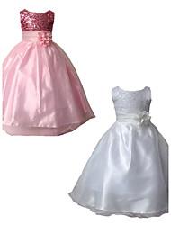 2015 Children Girls Evening Dress School Party Dress Formal Dress Evening Wedding Party Dresses Full Dress For SZ 3~10Y