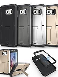 preiswerte -Für Samsung Galaxy Hülle Stoßresistent / mit Halterung Hülle Rückseitenabdeckung Hülle Panzer PC Samsung S6