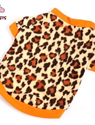 cheap -Cat Dog Shirt / T-Shirt Sweatshirt Dog Clothes Fashion Leopard Brown Costume For Pets