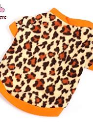 Недорогие -Кошка Собака Футболка Толстовка Одежда для собак Леопард Коричневый Флис Костюм Для домашних животных Муж. Жен. Мода