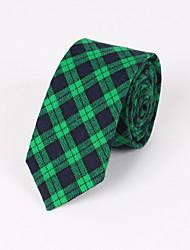 Männer Partei / Abend Hochzeit formale rote karierte karierte dünne Krawatte
