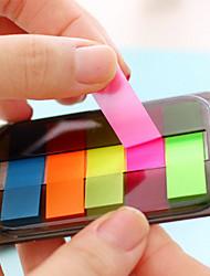 Недорогие -коробка пакет флуоресцентный цвет самоклеящийся примечание (различный цвет)