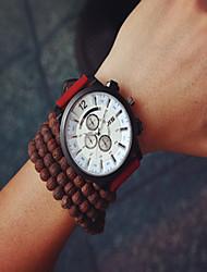 baratos -Homens Relógio de Pulso Venda imperdível PU Banda Vintage / Fashion Preta / Vermelho