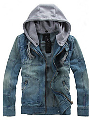 Men's Dailywear Date Vacation Simple Street chic Fall Winter Jacket,Others Hooded Long Sleeve Regular N/A