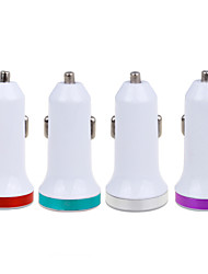 cheap -2.1A Double metal USB Universal Quick Car Charger Adapter (12-24V)(Assorted Colors)