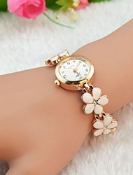 cheap -Women's Watch Flower Bracelet Alloy Band Cool Watches Strap Watch Unique Watches Fashion Watch