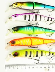5pcs pcs Poissons nageur/Leurre dur Fretin leurres de pêche Poissons nageur/Leurre dur FretinVert Orange Incarnadin Jaune Couleurs