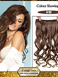 baratos -5 clips ondulado mel marrom (# 12) grampo de cabelo sintético em extensões de cabelo para senhoras mais cores disponíveis