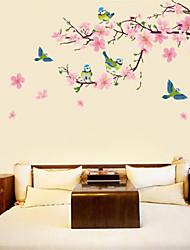 abordables -Autocollants muraux décoratifs - Autocollants avion Floral / Botanique Salle de séjour / Chambre à coucher / Salle à manger