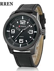 cheap -CURREN® Men's Army Design Military Watch Calendar Japanese Quartz Leather Strap Cool Watch Unique Watch