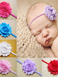 cheap -Baby Girls Headbands Infant Headbands Flowers Rhinestone Chiffon Flowers Baby Headband Girls Hair Accessories