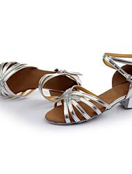 Sapatos de Dança (Preto/Castanho/Prateado/Dourado/Leopardo/Outro) - Mulheres - Customizáveis - Latim