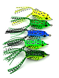 "cheap -5 pcs Soft Bait Fishing Lures Soft Bait Frog g/Ounce,55 mm/2-1/4"" inch,Hard Plastic Sea Fishing Freshwater Fishing Lure Fishing"