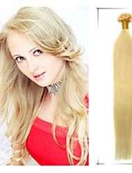 grau 5a 1pc / lot 20inch / 50 centímetros multicolors fusão direto / u ponta cabelo humano extensão do cabelo tece 0,5 g / s