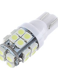 Lorcoo™ 20pcs x T10 20SMD 3528 White LED Car Lights Bulb 194 168 2825 5W(2 set)