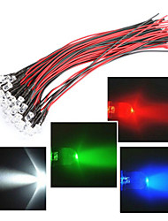 cheap -Line length in 20CM LED 12V 5MM light red / White / Blue / green /RGB 20PCS bundle