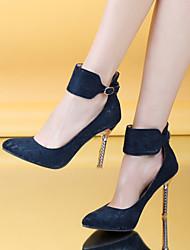 お買い得  -女性用 靴 レザーレット 春 / 夏 スティレットヒール ブラック / レッド / ブルー / ドレスシューズ