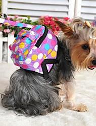 Cachorro mochila Bonitinho e fofinho Pontos Polka Tecido Roxo Marron Vermelho Azul