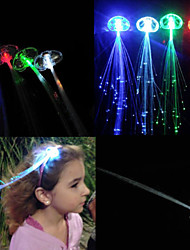 cheap -LED Luminous Hair Flashing Multicolour Clip on Braid Decoration Light Up Glow for Party