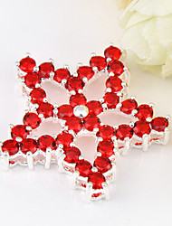 Fashion Forward Fire Red Quartz Gem 925 Silver Five-pointed star Pendants for Necklaces For Wedding Party Daily 1pc