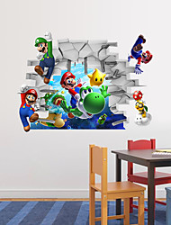 cheap -Animals / Cartoon / Romance / Fashion / Holiday / Shapes / People / Fantasy / Sports / 3D Wall Stickers 3D Wall StickersDecorative Wall