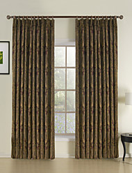 cheap -Rod Pocket Grommet Top Tab Top Double Pleat Two Panels Curtain Neoclassical Rococo Baroque European Designer , Jacquard Bedroom Rayon