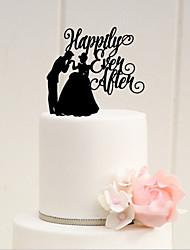 Décorations de Gâteaux Thème de conte de fées Acrylique Mariage Enterrement de Vie de Jeune Fille Avec O-phénylphénol