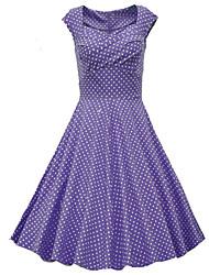 abordables -Robes ( Coton/Polyester ) Sexy/Soirée Sans manche pour Femme