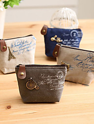 cheap -Women Coin Purse Canvas Shopping Zipper White Brown Blue Khaki