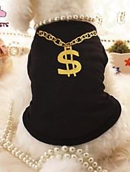 baratos -Gato Cachorro Camiseta Roupas para Cães Preto Rosa claro Terylene Ocasiões Especiais Para animais de estimação Fantasias Casamento