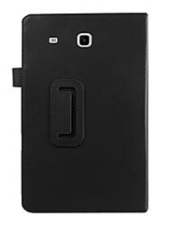 economico -Custodia Per Samsung Galaxy Samsung Galaxy Custodia Con supporto / Con chiusura magnetica Integrale Tinta unita pelle sintetica per Tab E 9.6