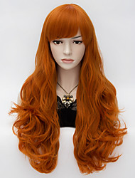 cheap -Women Synthetic Wig Capless Long Deep Wave Brown With Bangs Halloween Wig Carnival Wig Costume Wig