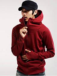 povoljno -Muškarci Veći konfekcijski brojevi hoodie jakna Jednobojni