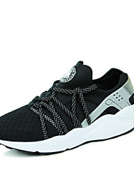 cheap -Men's Shoes Synthetic Spring Fall Novelty Comfort Walking Shoes Lace-up for Multi Color Black White Red