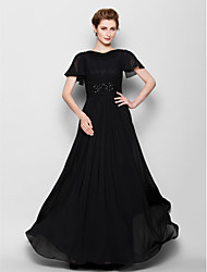 cheap -A-Line Bateau Neck Floor Length Chiffon Mother of the Bride Dress with Beading by LAN TING BRIDE®