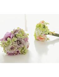 Недорогие -Свадебные цветы Букеты Свадьба / Вечеринка / ужин Эластичный сатин / Satin 0-20cm