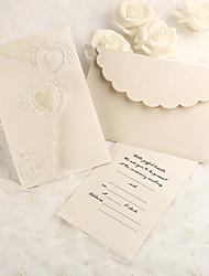 abordables -Plis Roulés Invitations de mariage Cartes d'invitation Papier nacre