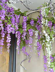 "42.1"" High Quality Artificial Flower Wisteria Bine 1pc/set for Home Decor"