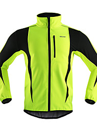Arsuxeo Cycling Jacket Men's Bike Jacket Fleece Jackets Tops Thermal / Warm Windproof Anatomic Design Breathable Back Pocket Reflective