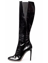 Women's Shoes Leatherette Stiletto Heel Fashion Boots Boots Office & Career / Dress / Casual Black