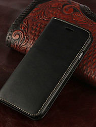 cheap -Retro Genuine Leather Flip Cover Wallet Card Slot Case Stand for iPhone 7 7 Plus 6s 6 Plus