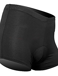 cheap -SANTIC Men's Cycling Under Shorts - Black Bike Padded Shorts / Chamois / Underwear Shorts, Breathable Silicon