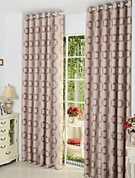 baratos -Dois Painéis Tratamento janela Europeu , Pontos Polka Sala de Estar Poli/Mistura de Algodão Material Cortinas cortinas Decoração para casa